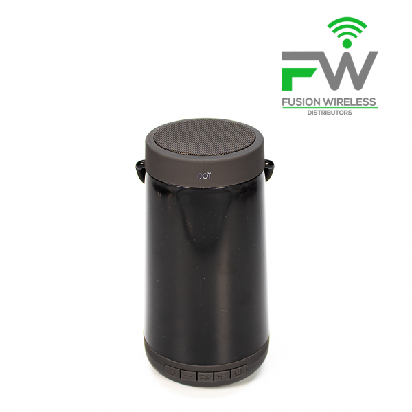 iJoy IJSP3001-B1C10 Aurora Wireless Speaker Black with Lights
